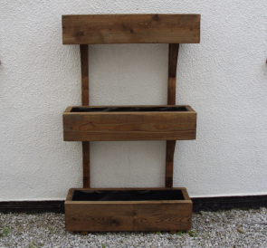 3 Tier Timber Planter Unit