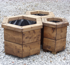 Set of 3 Hexagonal Planters