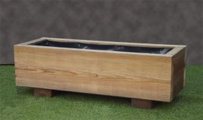 Plain Rustic Wooden Planter 840