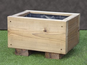 Plain Rustic Wooden Planter 420