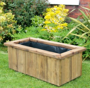 Deep Rustic Large Wooden Planter 1190
