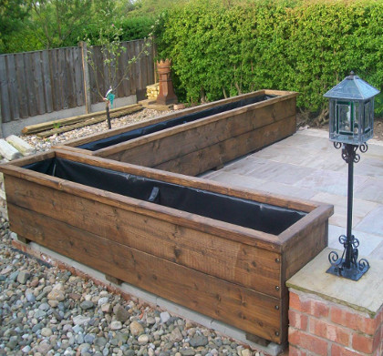 Large Wooden Planters